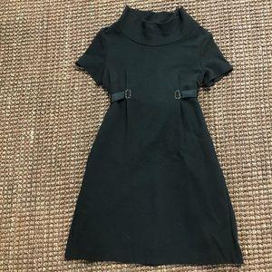 fendi black wool/cashemere dress